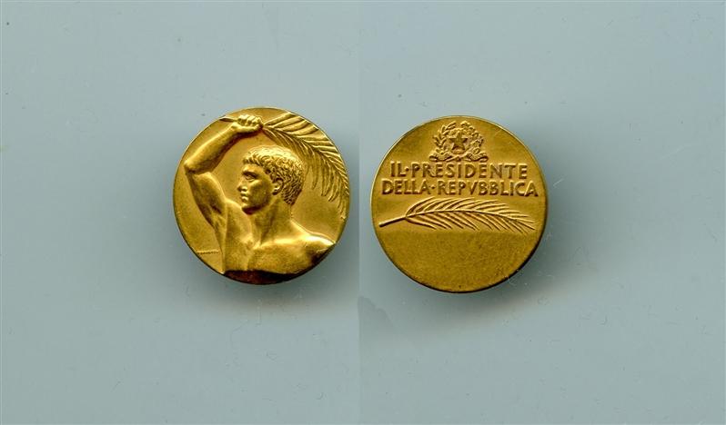 REPUBBLICA ITALIANA, Medaglia Premio
