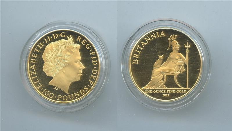 7c9c212be8 REGNO UNITO, Elizabeth II, 100 Pounds 2013 Britannia