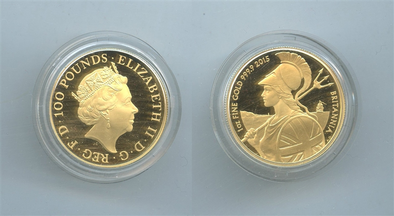 af36e9a312 REGNO UNITO, Elizabeth II, 100 Pounds 2015 Britannia