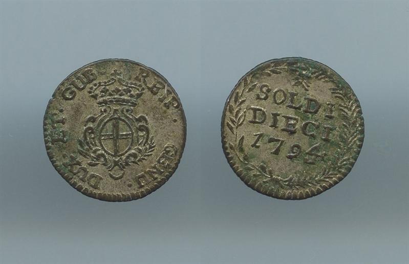 c5fb006a3d GENOVA, Dogi Biennali (1528-1797) 10 soldi 1794
